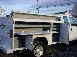 2008 Ford F350 Ext Cab 4x4 Utility Service Body Truck Commercial Low Slide Roof