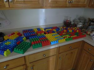 Lot 250 Mega Bloks Building Block Toys Duplo Compatible Preschool Toys
