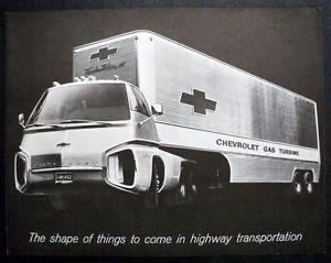 Chevrolet 1965 Gas Turbo Titan III Turbine Drive Truck Brochure Black