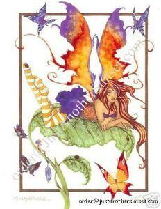 Amy Brown Fairy Note Card Faery Metamorphosis Butterfly