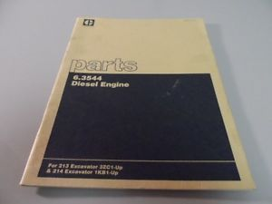 Cat Caterpillar Perkins 6 3544 Diesel Engine Parts Catalog Manual