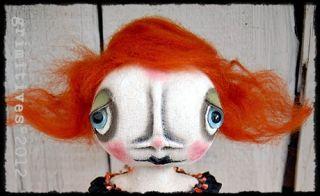 OOAK Pfatt Challenge Primitive Folk Art Halloween Witch Doll Ehag