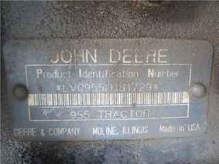 John Deere 955 Tractor Snow Blower Angle Broom Extra Brooms Front End Loader