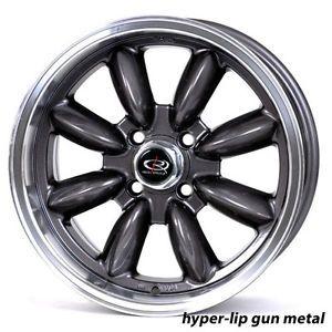 16 Rota RB Gunmetal Rims Wheels Tires Mini Cooper 195 55 16 Falken 912