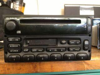 99 03 Ford Ranger F150 Windstar Explorer CD Cassette Radio 3F2T 18C868 EC
