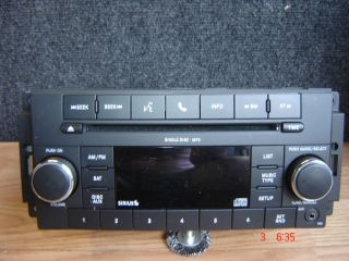 Chrysler Dodge Jeep Factory Am FM Satellite Radio CD Player  P05091117AC