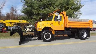 1997 International 10' Dump Truck 11' Snow Plow Turbo Diesel Automatic