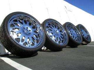 """26"""" Chrome Forgiato Cadillac Escalade Chevy Tahoe Yukon asanti GMC Denali Wheels"""