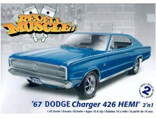 Revell '67 Dodge Charger 426 Hemi 2'N 1 Plastic Model Kit 1 25 85 4247