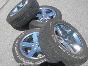 "20"" Dodge RAM 1500 Chrome Clad Wheels Rims Tires"