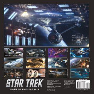 Star Trek Ships of The Line 12 Month Stardate 2014 Wall Calendar New SEALED