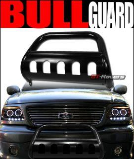 HD Steel Bull Bar Brush Push Bumper Grill Guard 03 08 Honda Pilot Ridgeline Blk