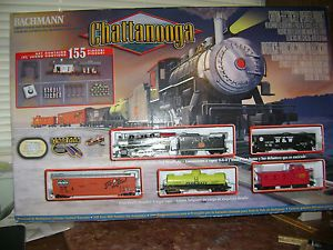 Bachmann HO Scale Chattanooga 0 6 0 Steam Locomotive Electric Train Set 00626