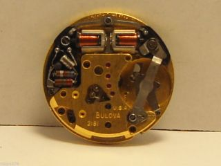 1971 Bulova Accutron 2181 Watch Movement Hums Vintage Accutron for Parts Repair