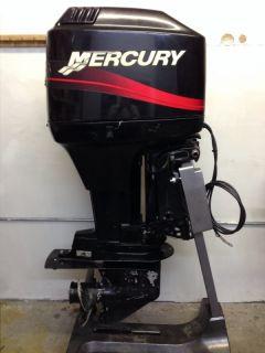 2000 Mercury 75 HP 2 Stroke Outboard Motor Boat Engine 40 60 Water Ready Rebuilt