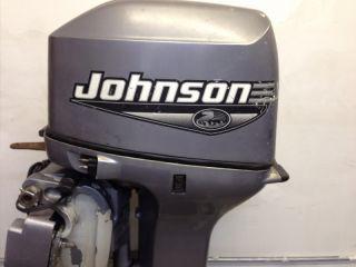 2000 Johnson 25 HP 2 Stroke Outboard Motor Boat Engine 40 60 Water Ready