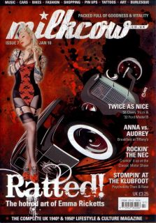 Milkcow Magazine 7 Hot Rod Rat Pin Up Rockabilly Custom Car Kulture Vtg Style