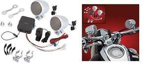 Big Bike Parts Motorcycle Chrome Sound System Harley Cruiser Handlebar Radio