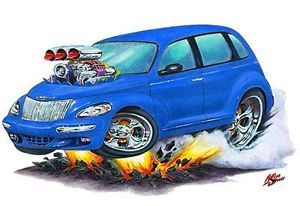 Mad Dog PT Cruiser Custom Cartoon Car Wall Graphic Art Decal Vinyl Cling New