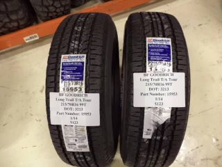 2 BF Goodrich Long Trail TA Tour 215 70 16 99T Brand New Tires Pair 15953
