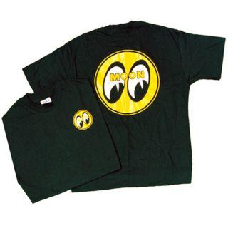 XL Moon Logo Shirt Black Rat Hot Rod Vintage Style Custom Gasser Drag Racing