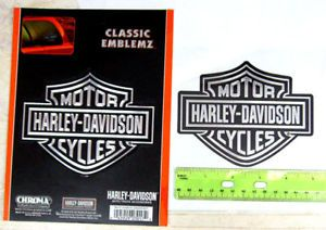 Harley Davidson Chrome Look Logo Emblem Decal Sticker