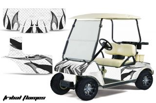 Club Car Golf Cart Parts Graphic Kit Wrap AMR Racing Decals Accessories Flame WB