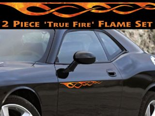 True Fire Pinstripe Flame Decals for PT Cruiser HHR Mustang Camaro Mopar RAM 4x4