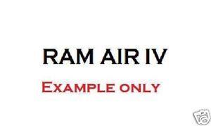 """1969 70 Firebird """"RAM Air IV"""" Hood Decal White DT164"""