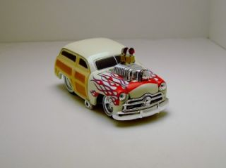 Mm Wild Blown '49 Ford Woody Drag Car with Rubber Tires 1 64th Scale Limited