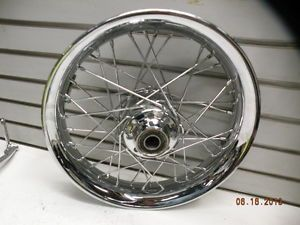"Profile Smooth Front Wheel Spoke Harley Heritage Softail 16"" 00 1"" Chrome Rim"