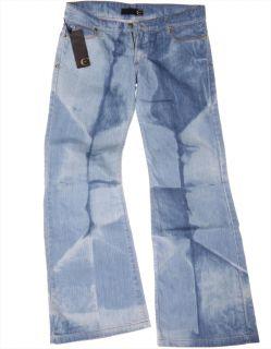 "Just Cavalli ""Marlene Hippie"" Flared Jeans Pants Wide Leg Retro Denim Blue"