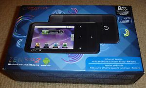 Creative Zen Touch 2 8 GB Bluetooth Wi Fi Android Digital Camera Media Player 0054651175761