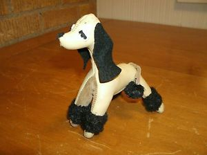 "Vintage 1950's R Dakin Dream Pet Toy "" Poodle "" Dog Doll Leather w Sawdust RARE"