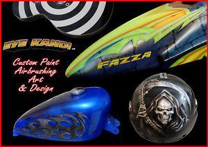 Harley Motorcycle Tank Set Custom Paint Airbrushing