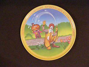 1977 Ronald McDonald Plate