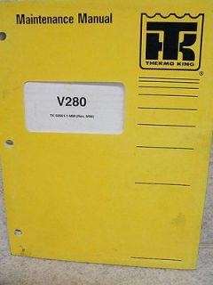 Thermo King V280 MDL 10 20 Refrigeration Unit Maintenance Manual Wiring Diagrams