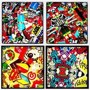 Car Sticker Bomb Cartoon Flush Style Good Condition So Cool w 25cm H 34cm