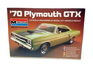Monogram 70 Plymouth GTX Model Kit 1 24 Scale Monogram Model Kit Car Stock 2293