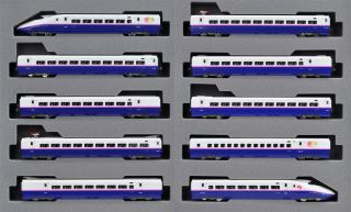 Kato 10 868 Jr Shinkansen Bullet Train Series E2 Tohoku 'Hayate' 10 Car Set