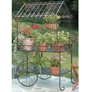 Deer Park Ironworks Large Flower Cart TC104 Decorative Plant Carts