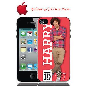 1D Harry Styles Personalised Message One Direction Fans Black iPhone 4 4S Case