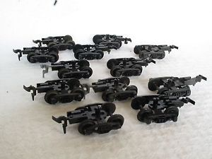 HO Scale Tyco Parts Lot Set 12 6 Pair Freight Car Train Trucks Wheels Couplers