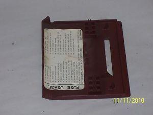 1990 Oldsmobile 88 Dashboard Fuse Box Cover H66