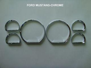 Ford Mustang GT Dash Dashboard Gauge Chrome Rings Bezel