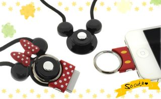 Japan Disney Mickey Mouse Hand Linker Dock Neck Strap for iPhone iPod
