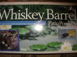 Whiskey Barrel Pond Kit for Small Ponds or Containers Pump Liner Planter