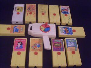 Vintage Fisher Price Movie Viewer 11 Cartridges Disney Snow White Sesame Street