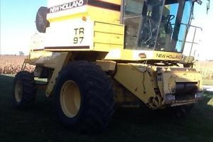 1996 New Holland TR97 Combine with Heads and Header Carts Package Deal