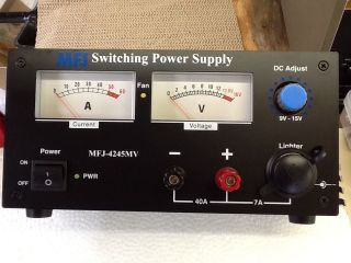 MFJ 4245mV Mightylite 45 Amp Switching Power Supply Used Ham Radio CB Radio